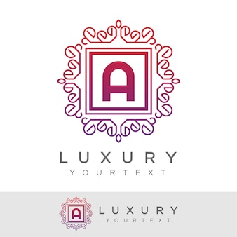 Luxe initial lettre a logo design