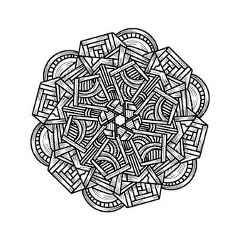 Luxe main dessiner ornement floral mandala
