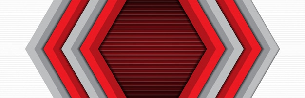 Luxe et moderne de fond bannière bannière flèche rouge gris