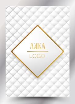 Luxe premium cover menu design géométrique