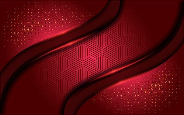 Luxe rouge réaliste avec fond de chevauchement