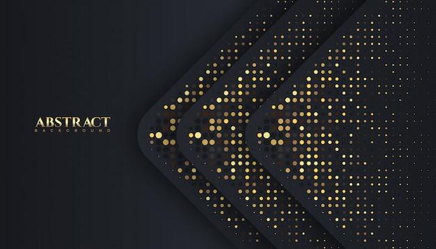 Luxe sombre et doré sparkle glitter couleur abstrait, élégant