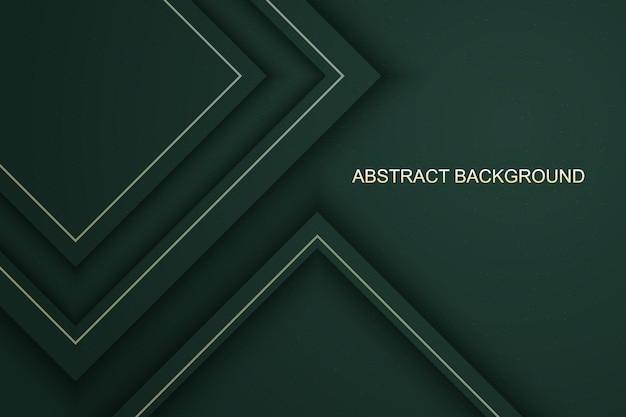 Luxe vert abstrait avec des ombres et fond de lignes dorées. illustration vectorielle.