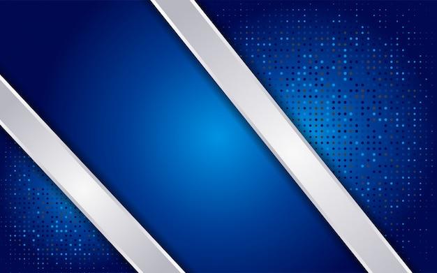 Luxueux fond abstrait bleu avec des lignes blanches