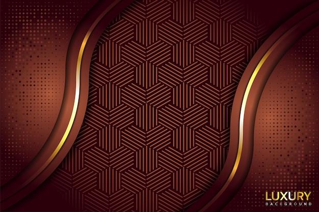 Luxueux fond brun doré élégant