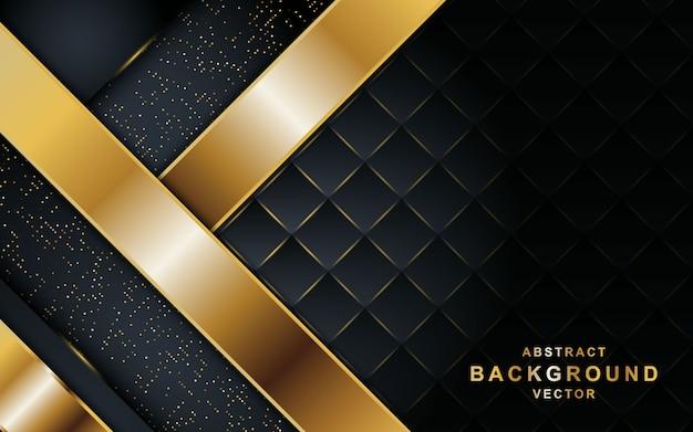 Luxueux fond noir abstrait.