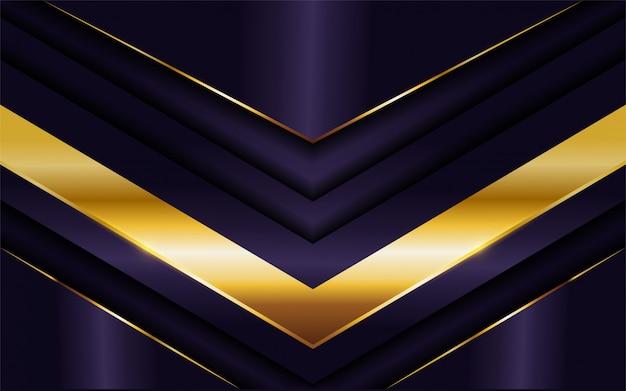 Luxueux fond violet foncé avec une combinaison de lignes dorées.