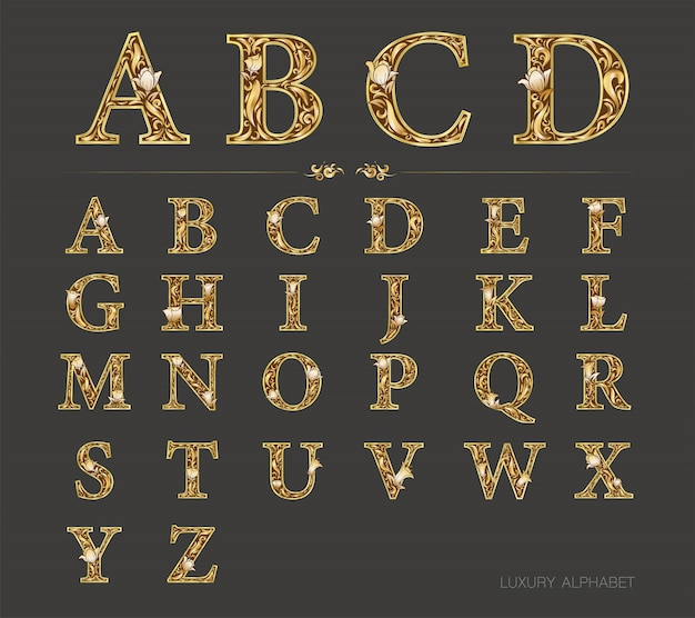 Luxury font golden version