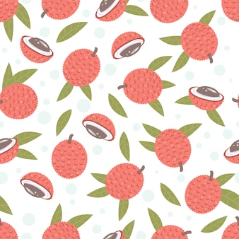 Lychees pattern background