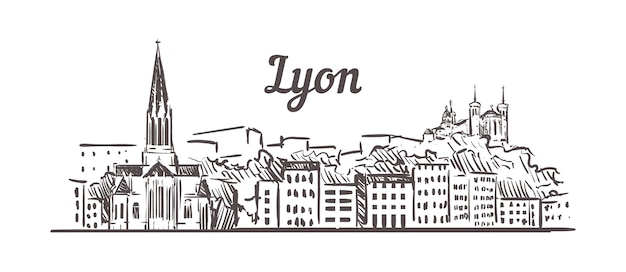 Lyon skyline sityscape