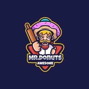 M. donuts logo mascotte