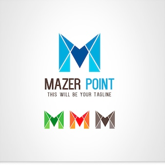 M lettre logo
