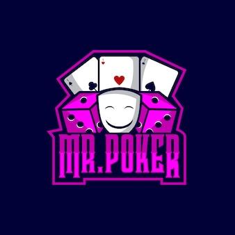 M. poker logo sports
