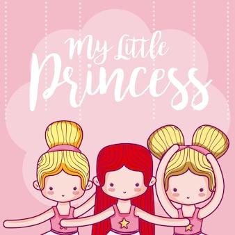 Ma petite carte mignonne de princesse avec la fille
