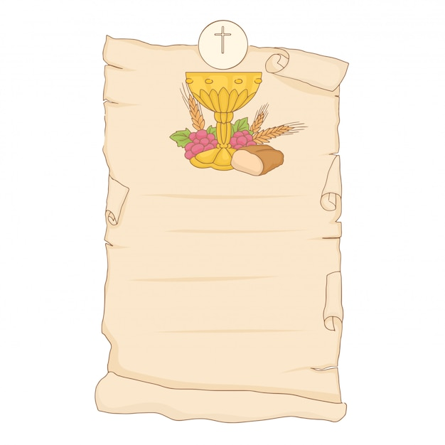 Ma première communion. conception d'invitation