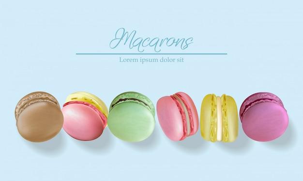 Macarons colorés