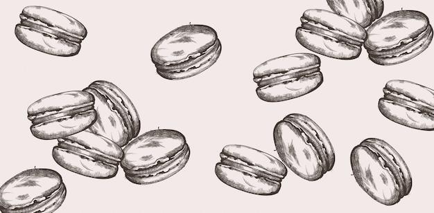 Macarons dessin au trait