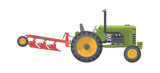 Machine agricole isolée sur blanc