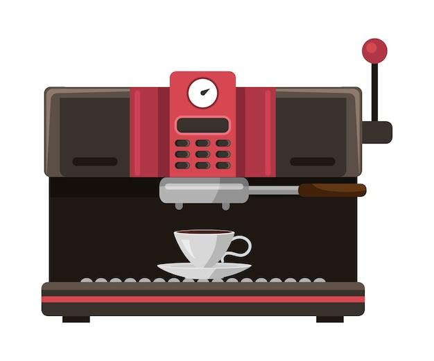 Machine à café isolée sur blanc