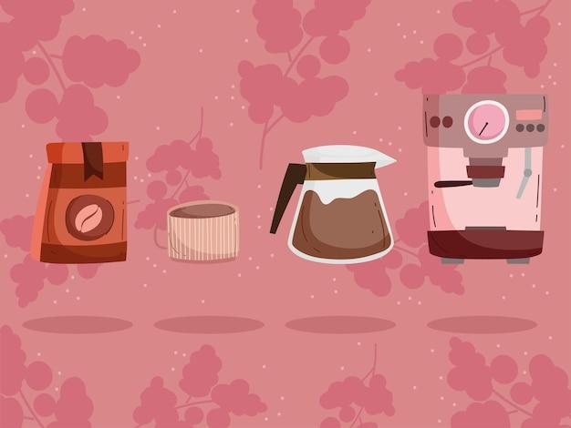 Machine à café et paquet
