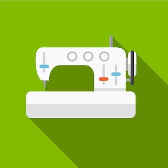 Machine à coudre icône plate illustration isolé vecteur signe symbole