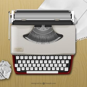 Machine à écrire réaliste