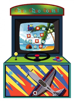 Machine de jeu pour compter les nombres sur isolé