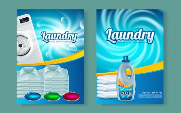 Machine à laver sur flyer abstract vector. modèle de conception de brochure