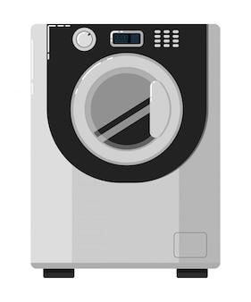 Machine à laver isolé sur blanc