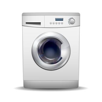 Machine à laver isolé sur fond blanc