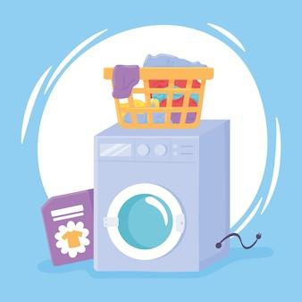 Machine à laver le linge sale