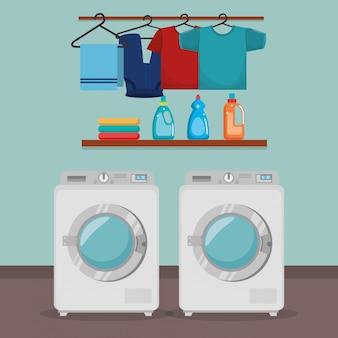 Machine à laver avec service de blanchisserie