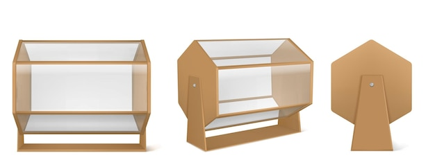Machine de loterie, tambour de tombola en bois avec verre transparent isolé sur blanc
