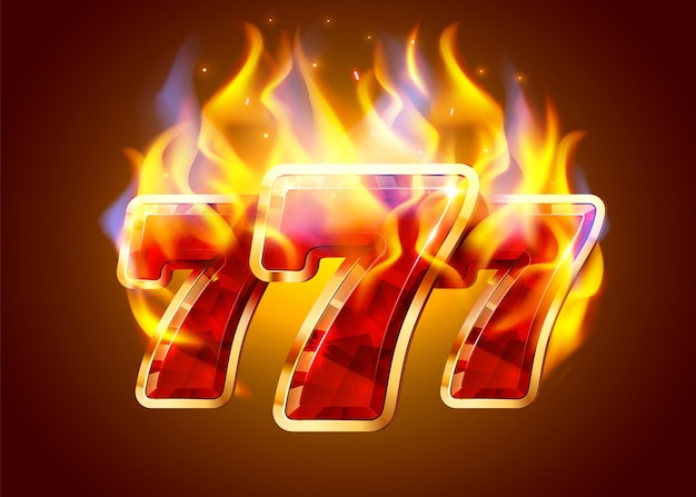 La machine à sous brûlante gagne gagne le concept de casino de feu de jackpot chaud