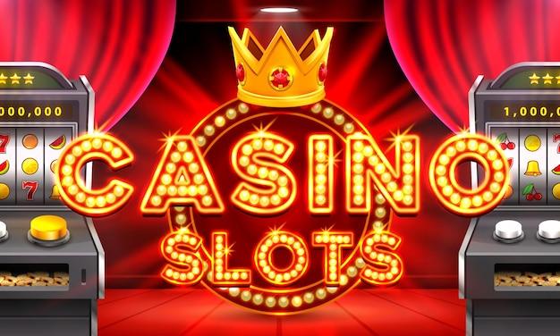 La machine à sous casino 3d remporte le jackpot, l'art d'arrière-plan de la scène. illustration vectorielle