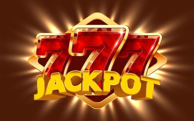 La machine à sous gagne le jackpot grand jackpot de casino de concept de victoire
