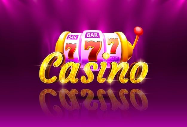 Machine à sous de pièces de monnaie de casino jouer maintenant vecteur