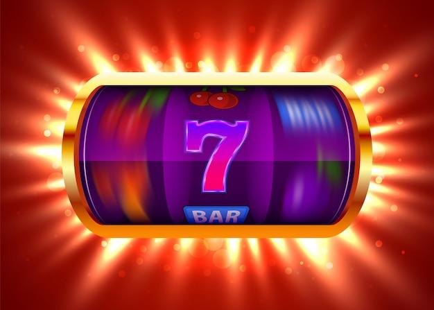 La machine à sous remporte le jackpot gros jackpot de casino concept de gain