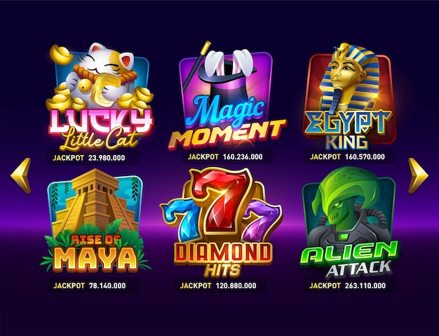Machines à sous de casino mini-jeux interfaces de jeu