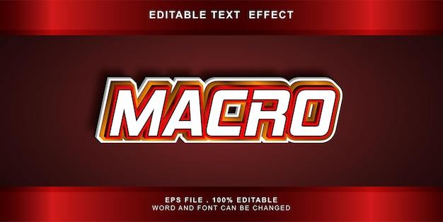Macro modifiable d'effet de texte