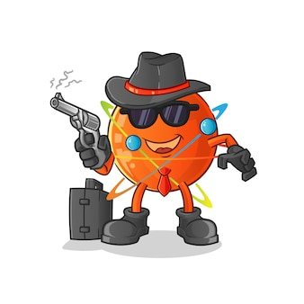 Mafia atom avec personnage de pistolet.