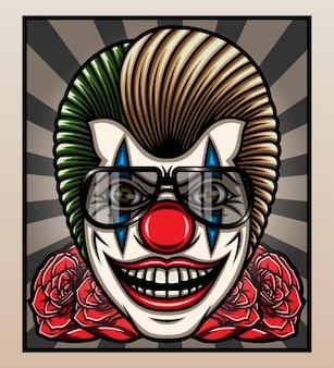 Mafia clown effrayant.