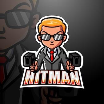 Mafia hitman mascotte esport illustration