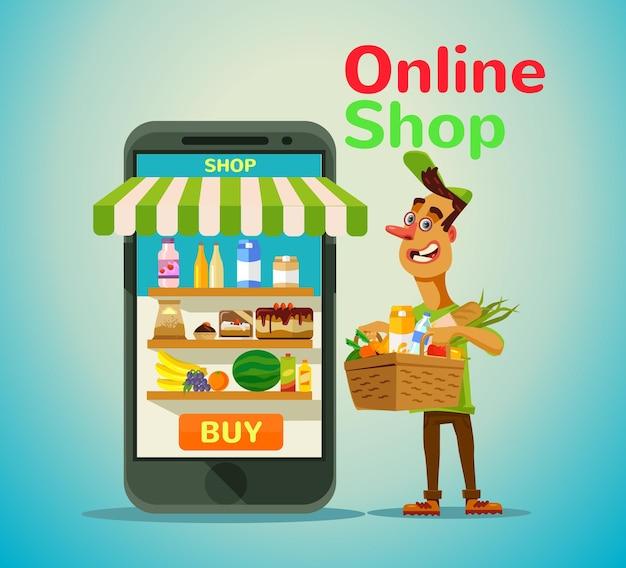 Magasin d'alimentation en ligne