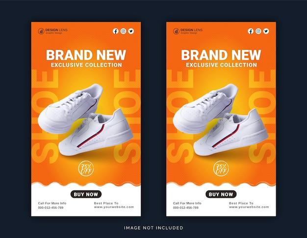 Magasin de chaussures en ligne bannière de publication instagram modèle de publication sur les médias sociaux