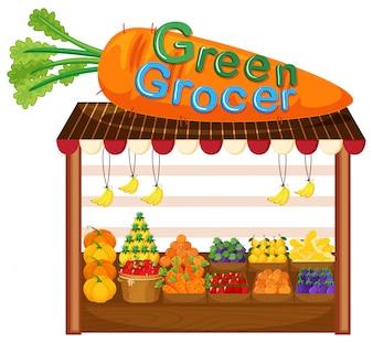 Magasin de fruits et légumes biologiques
