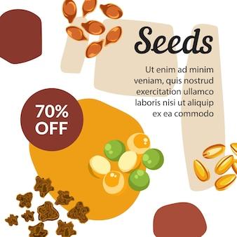 Magasin de graines avec des produits biologiques et naturels