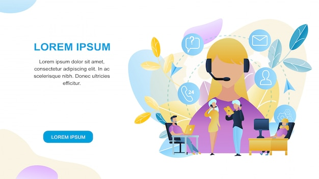 Magasin de groupe de personnes illustration group people call center