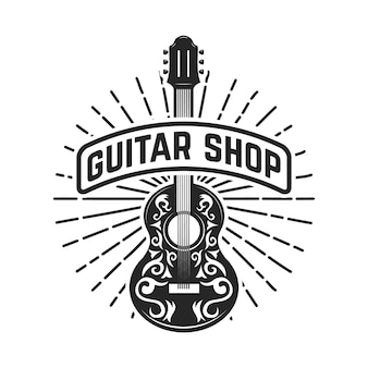 Magasin de guitare. rock and roll.