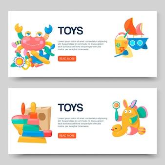 Magasin de jouets pour ensemble de bannières de bébés